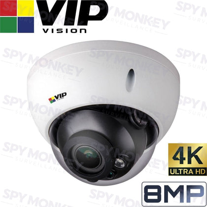 VIP Vision Pro Security Camera: 8MP (4K) Dome, 3.7mm~11mm VF Lens