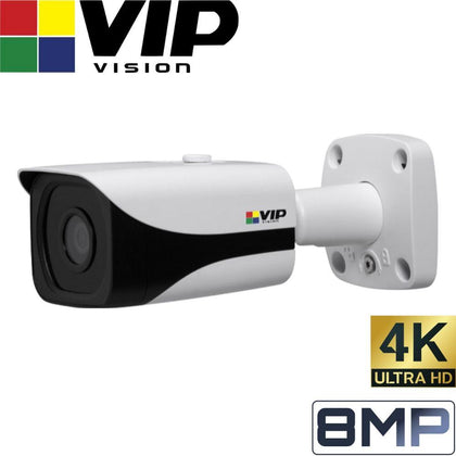 VIP Vision Professional Security Camera: 8MP (4K) Mini Bullet, IP67