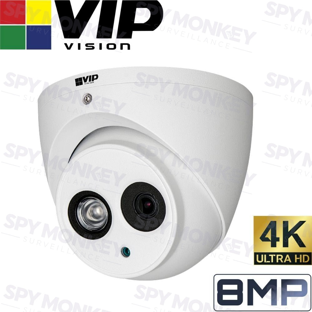 VIP Vision Pro Security Camera: 8MP (4K) Mini Dome, 50m IR, IP67