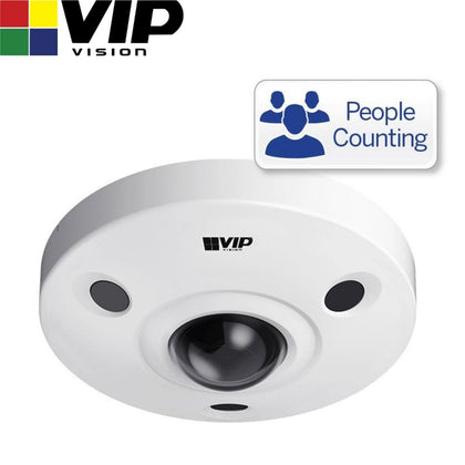 VIP Vision Security Camera: 12MP Fisheye Dome, Specialist AI Series, 1.85mm
