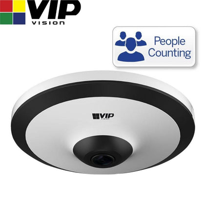 VIP Vision Security Camera: 5MP Fisheye Dome, Specialist AI Series, 1.4mm