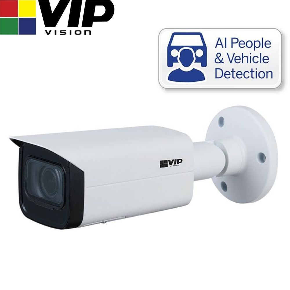 VIP Vision Security Camera: 4MP Bullet, Professional AI Series, 2.7-13.5mm