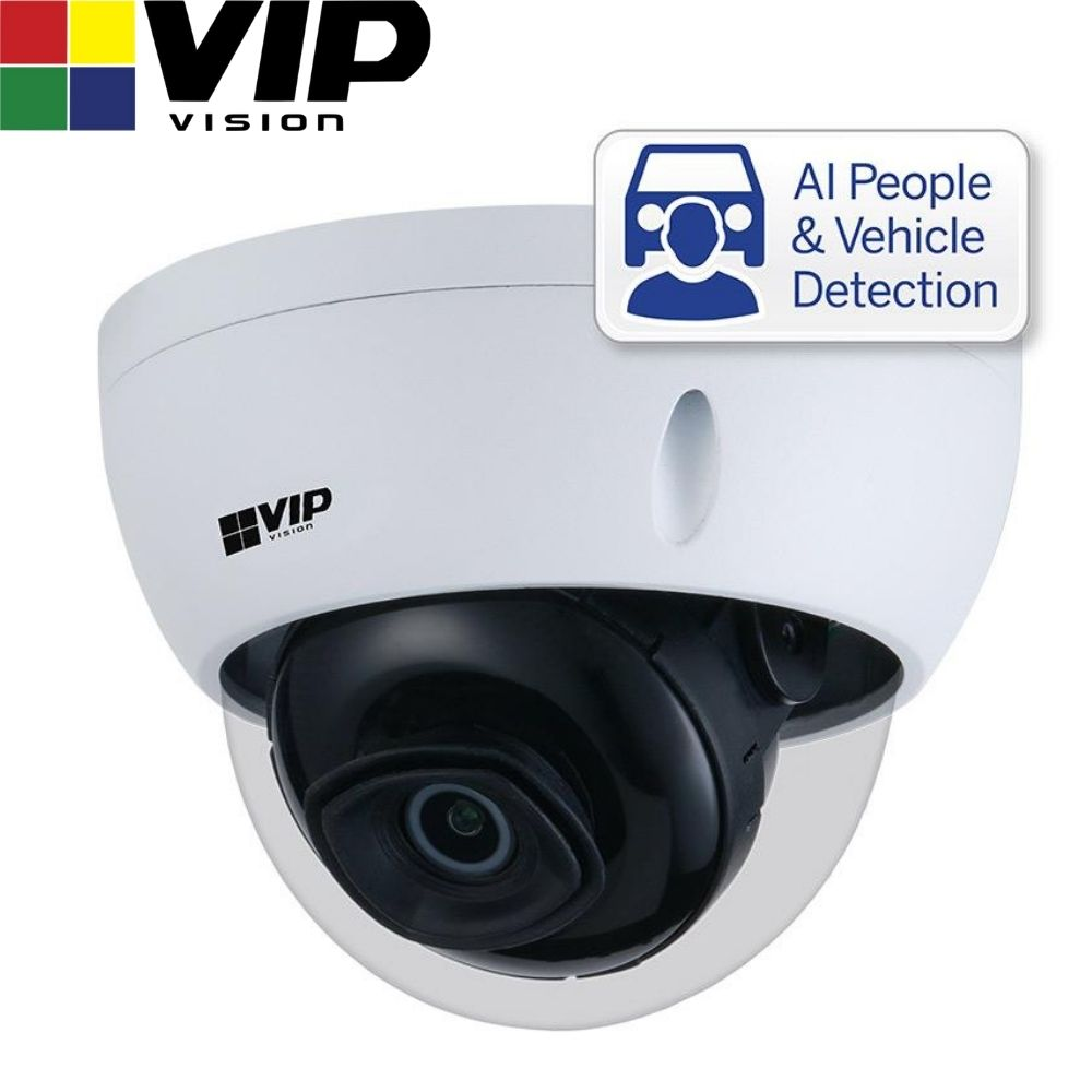 VIP Vision Security Camera: 4MP Dome, Professional AI Series, 2.8mm