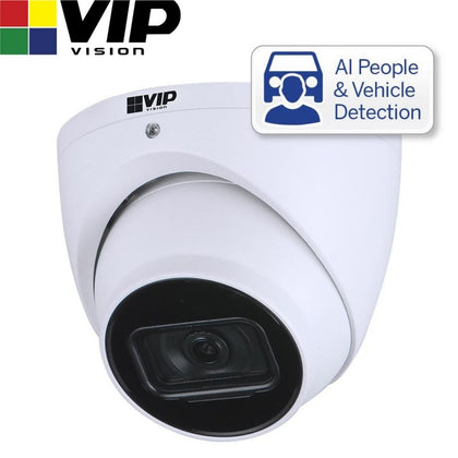 VIP Vision Security Camera: 4MP Turret, Professional AI Series, 2.8mm