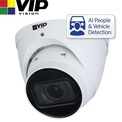 VIP Vision Security Camera: 4MP Turret, Professional AI Series, 2.7-13.5mm
