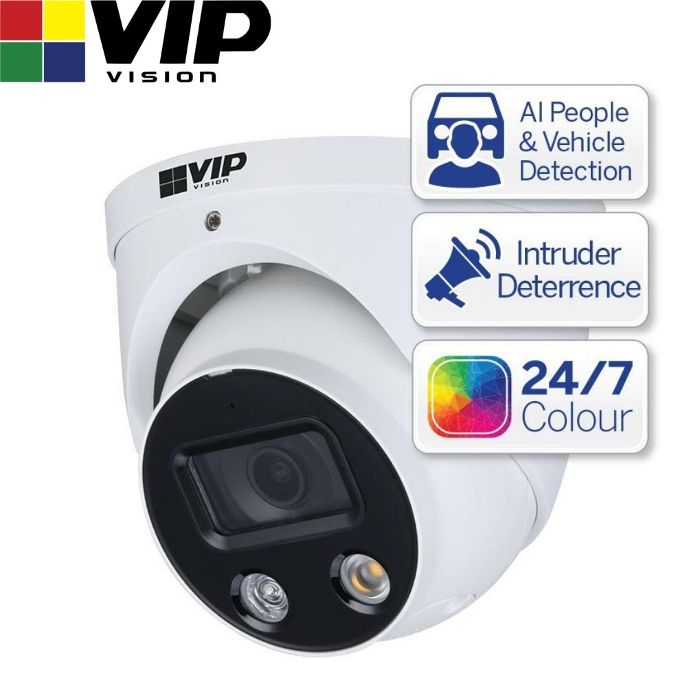 VIP Vision Security Camera: 8MP Turret, Professional AI Series, 2.8mm