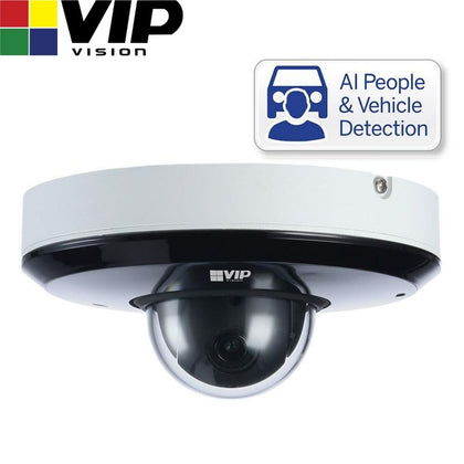 VIP Vision Security Camera: 4MP PTZ Dome, Specialist AI Series, 2.8-12mm