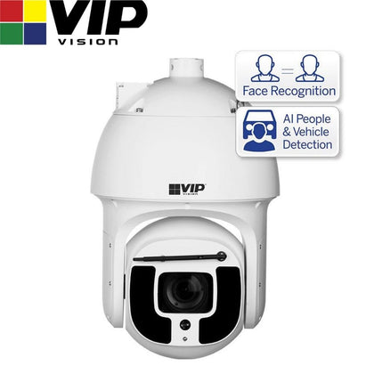 VIP Vision Security Camera: 8MP PTZ Dome, Ultimate AI Series, 5.6-223mm