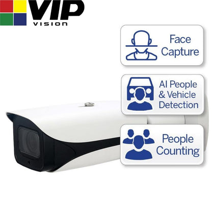 VIP Vision Security Camera: 4MP Bullet, Ultimate AI Series, 2.7-12mm