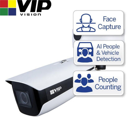 VIP Vision Security Camera: 8MP Bullet, Ultimate AI Series, 2.7-12mm