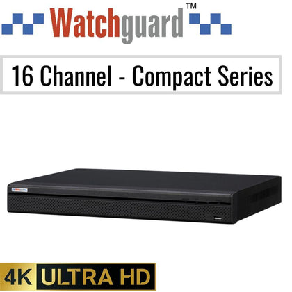 Watchguard Compact 16 Channel Network Video Recorder: 8MP (4K) Ultra HD