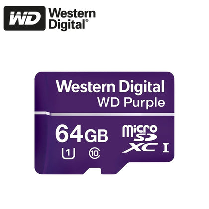 Western Digital Purple MicroSD Card: 64GB - WDSD64GB