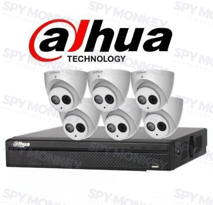 Dahua 8 Channel Security Kit: 8MP (4K Ultra HD) Lite Series, 6 X 6MP Turret Cameras, 2TB HDD