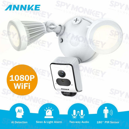 Annke Wireless AI Floodlight Camera: 1080P Full HD (2MP), PIR