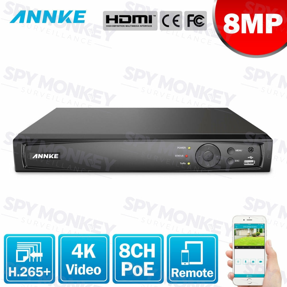 Annke 8 Channel Network Video Recorder: 8MP 4K Ultra HD with H.265+