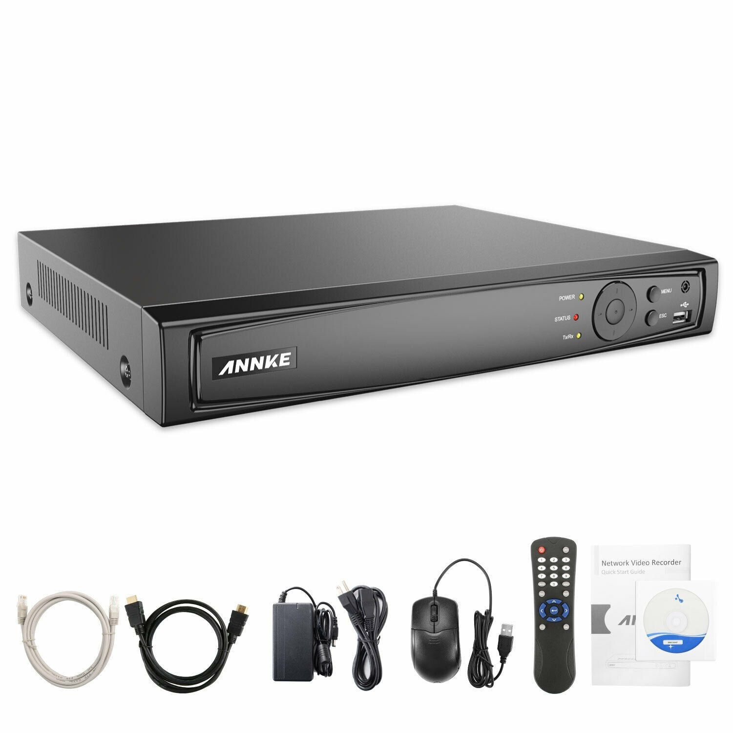 Annke 16 Channel Security Kit: 8MP(4K Ultra HD) NVR, 16 X 5MP Turret Cameras
