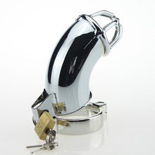 Load image into Gallery viewer, Metal Cock Cage, 5 Size Penis Ring Chastity Device