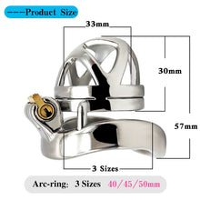 Load image into Gallery viewer, Chastity Devices Stainless Steel Small