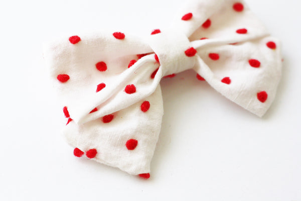 Holly - Vintage Mini Mary Jane Bow - Monroe & Harlow
