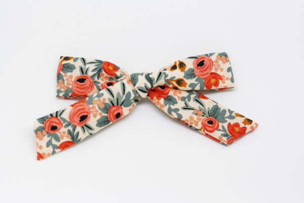 Rifle paper co Rosa floral- mini bow