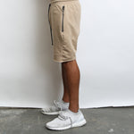 Khaki Raw Cut Shorts