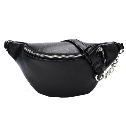Leather Fanny Handbag