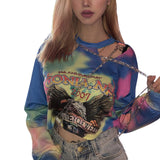 Streetwear Chained Tie Dye Top