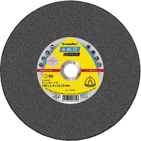 KLINGSPOR - Cut off Wheel- Hard - A46T-BF41 Mega 230x1.9x22 - 1012374