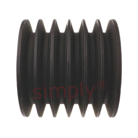 FallShaw-Cast Iron- Section Tappered- 6 Groove Locking Brush Pulley-200x6SPA