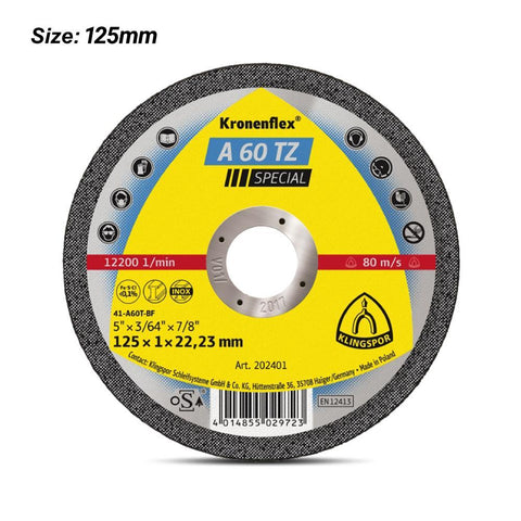 KLINGSPOR - Cut Off Wheel - 125 x1x22 - 202401