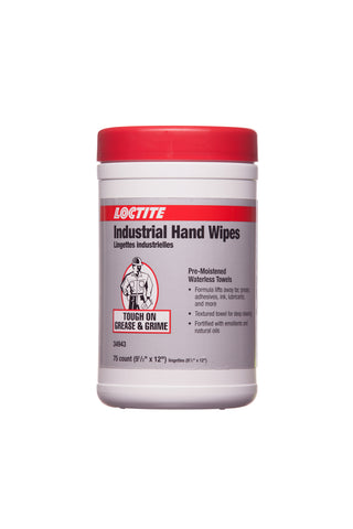 Loctite - 7617 Industrial handwipes 75pk -34943