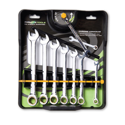 8 piece ratchet spanner set -imperial 70022