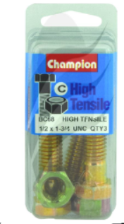 "Champion Bolt and Nuts 1-3/4"" x 1/2 BC68"