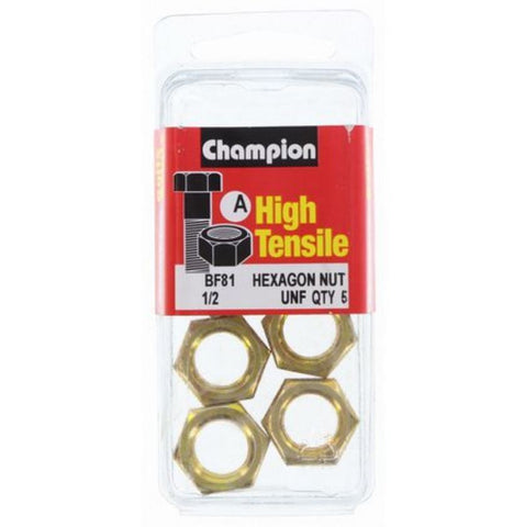 "Champion Hexagon Nuts UNF 1/2 ""-BF81"