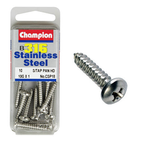 "Champion Self Tapping Pan Head Screws 10G x 1 "" CSP18"