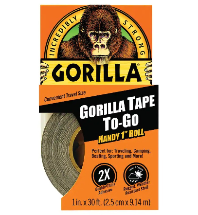 "Gorilla Black Tape - Handy 1"" Roll 25.4M X 9M GG61001"