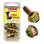 Champion Blister Flange Bolts and Nuts M8 x 25mm-FBM48