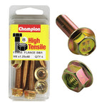 Champion Blister Flange Bolts and Nuts M8 x 40mm-FBM55