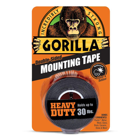 Gorilla Black Mounting Tape - Roll- 25.4mm x 152m GG41027