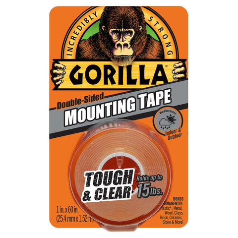 Gorilla Clear Mounting Tape - Roll- 25.4mm x 1.52m GG41022