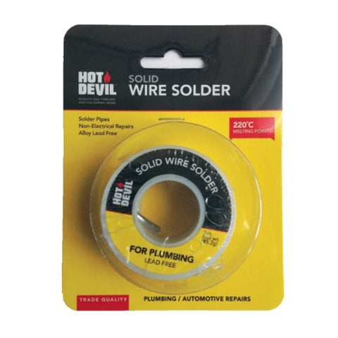 Hot Devil Solid Wire Solder (Plumbing/auto) HDSWS