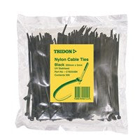 Tridon  - BLACK  Cable Ties 100mm x 3mm PK 500- CTB103BK