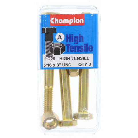 "Champion Bolt and Nuts 3"" x 5/16  BC28"