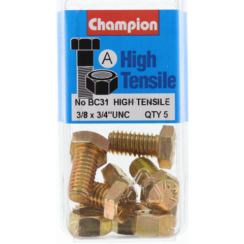 "Champion Fully Threaded Set Screws and Nuts 3/4"" x 3/8 BC31"