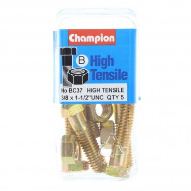 "Champion Bolt and Nuts 1-1/2"" x 3/8 BC37"