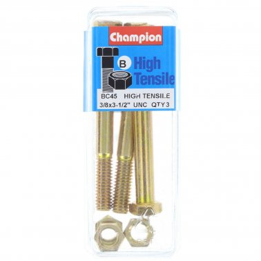 "Champion Bolt and Nuts 3-1/2"" x 3/8 BC45"