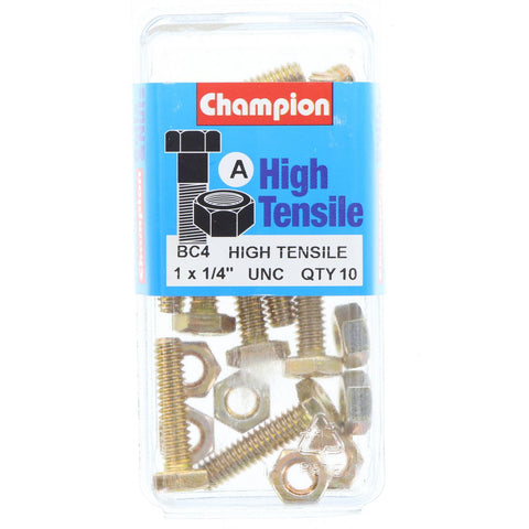 "Champion Fully Threaded Set Screws and Nuts 1"" x 1/4 BC4"