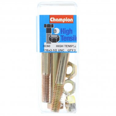 "Champion Bolt and Nuts 3-1/2"" x 7/16 BC60"