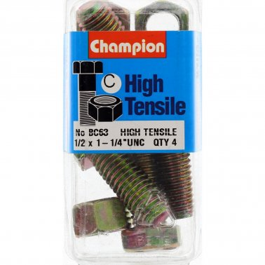 "Champion Fully Threaded Set Screws and Nuts 1-1/4"" x 1/2 BC63"