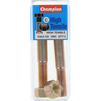 "Champion Bolt and Nuts 3-1/2"" x 1/2 BC75"